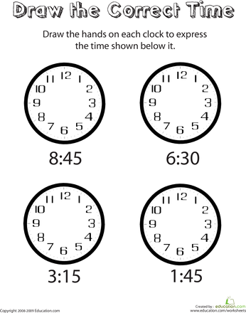 Learn to Tell Time | Worksheets, Learning and Math