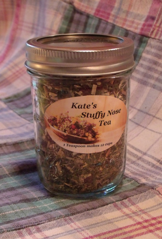 Stuffy Nose Tea by KatesMedicinalTeas on Etsy