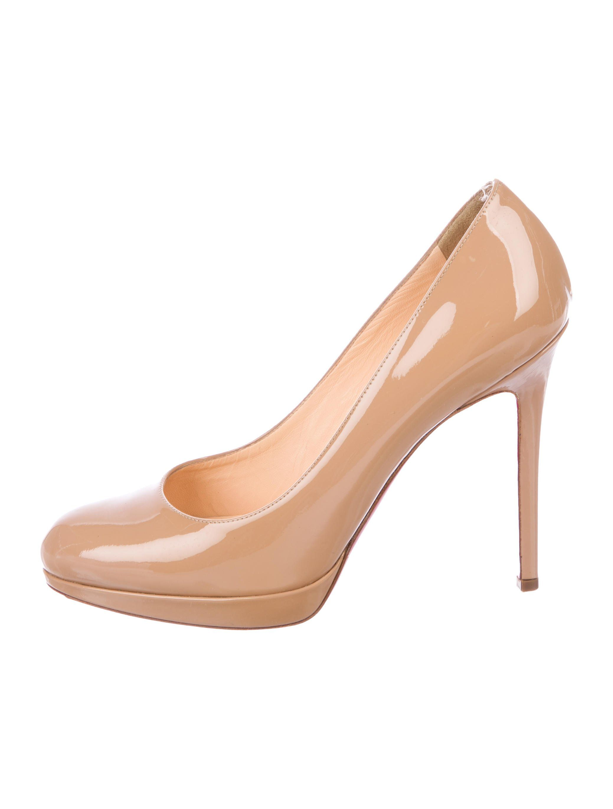 quality design d31e8 2e030 Tan patent leather Christian Louboutin round-toe pumps with ...