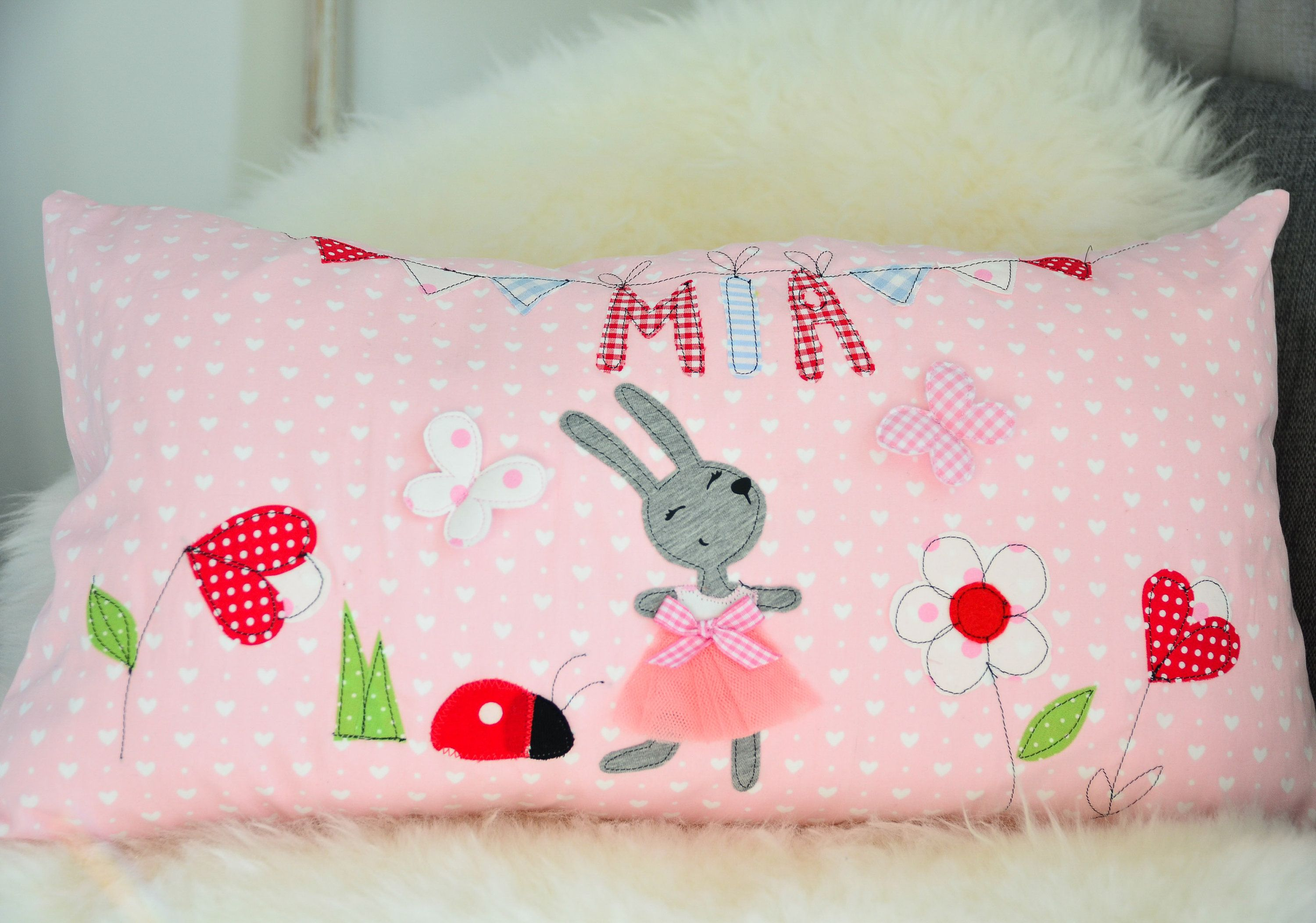 Pillow With Name Pillow Handmade Personalised Cushion