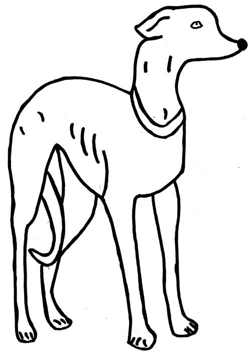 ausmalbild hund zum kostenlosen ausdrucken und ausmalen
