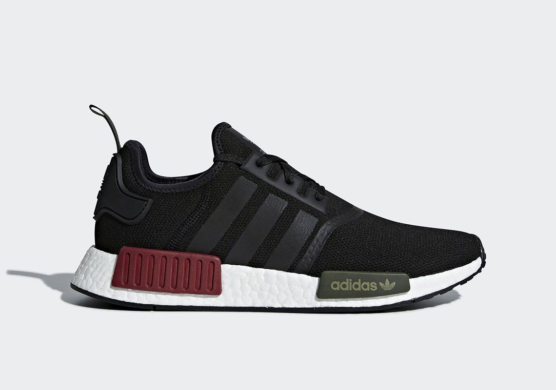 f2c785cfe Adidas NMD R1 Burgundy Olive BB7791  thatdope  sneakers  luxury  dope   fashion  trending