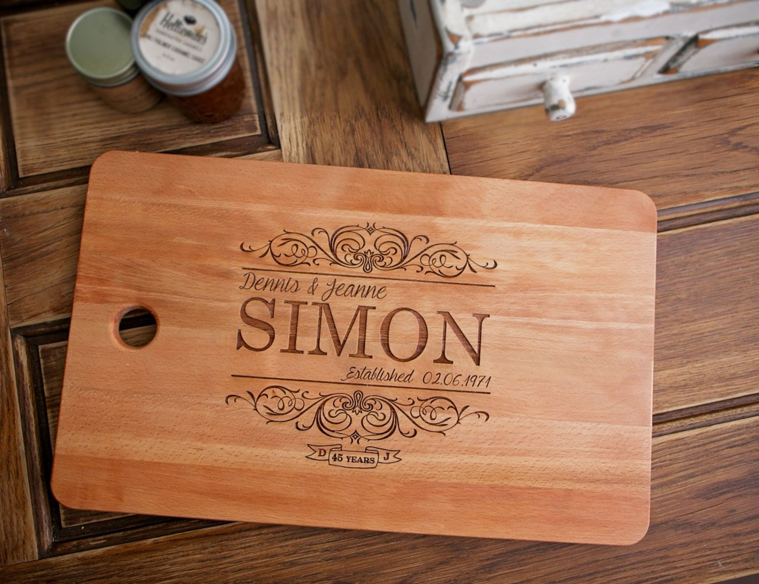 Engagement Gift Engraved Wood Cutting Board Birthday For Her Anniversary