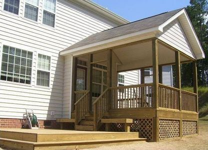 How To Add A Gable Roof To A Front Porch Ehow Hot Tub Pergola