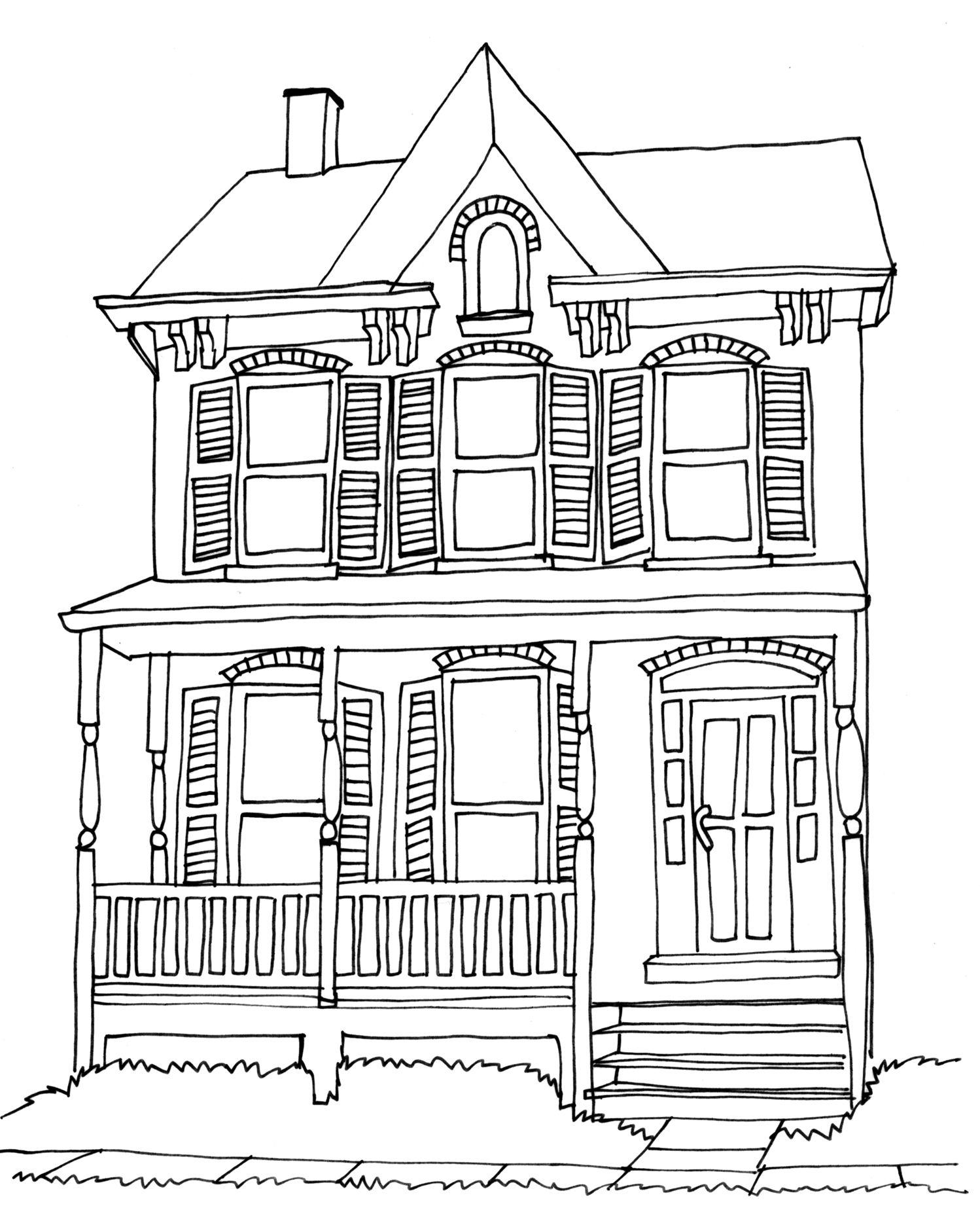 House Pencil Sketch : house, pencil, sketch, Tolerance