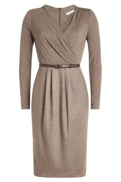 7d43774710d Virgin Wool Dress with Leather Belt