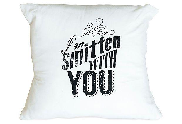 Best Smitten 16X16 Pillow Black On Onekingslane Com 400 x 300