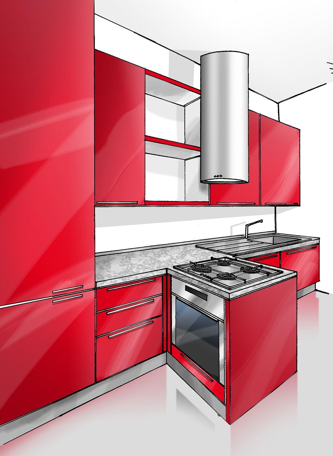 Mobiletto Per Appoggiare Microonde cucina concentrata in 3 metri   cucine, case e cucine piccole