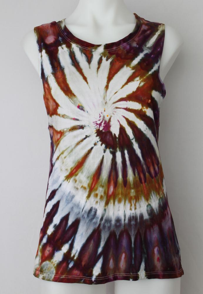 c9aaeb9f26 Women s tie dye tank top Bamboo organic cotton boho indie festival size  Small - Dark Jewels