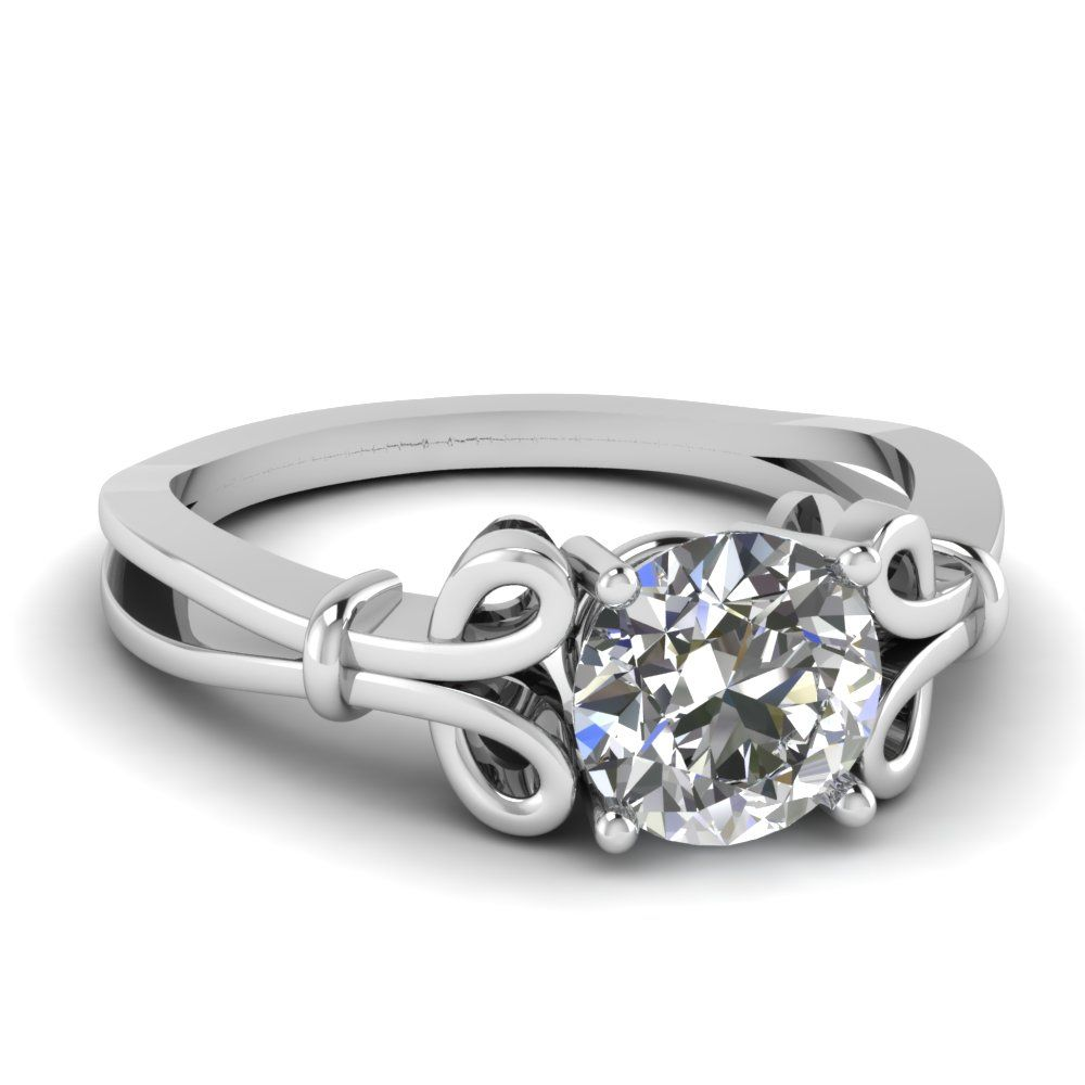 0.50 Ct. Round Cut Diamond Ring For Women
