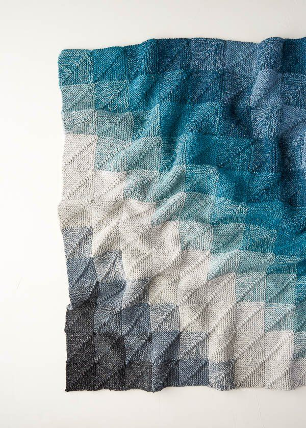 Mitered Corner Blanket | Purl Soho #knitting