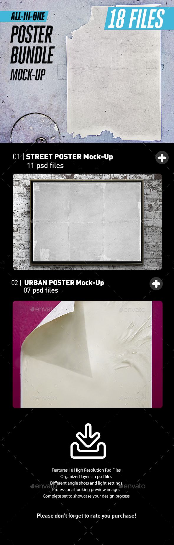 Street Urban Poster Bundle All-in-One | Mockup