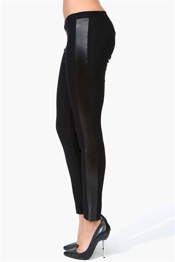 Leather Strip Leggings in Black ...I think this is the only way of ...