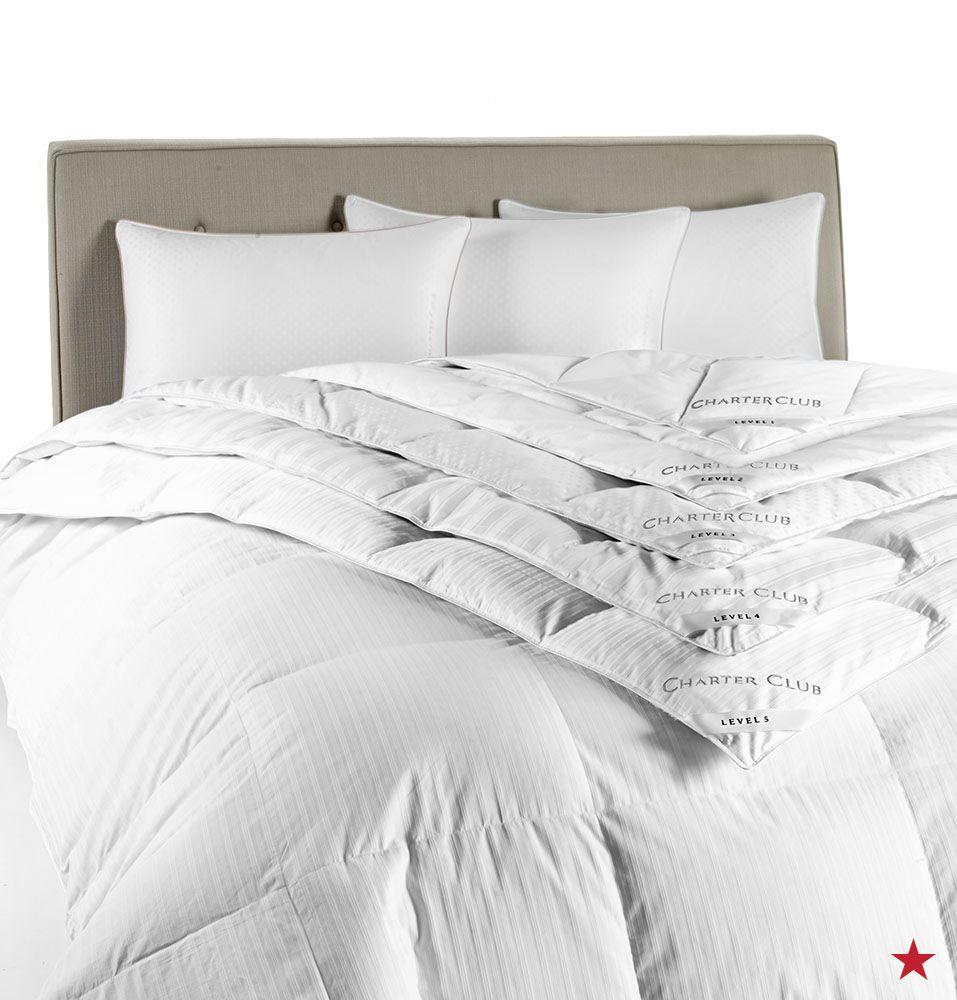 Closeout Charter Club Vail Level 3 European White Down Full Queen Comforter Medium Warmth
