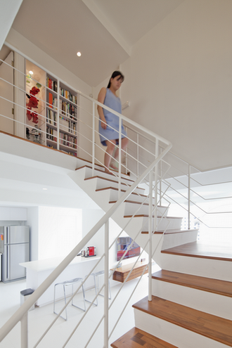 Stairs Hdb Maisonette Singapore Public Housing Atelier M A Minimalist Featured In Dwell