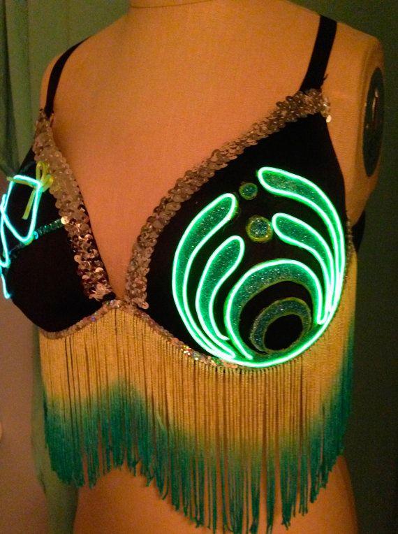 Light up the scene in this ORIGINAL custom Bassnectar bra design ...