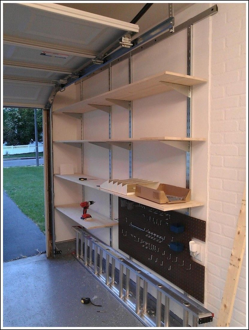 Diy Garage Shelves Ceiling, How To Build Shelves In Garage Wall