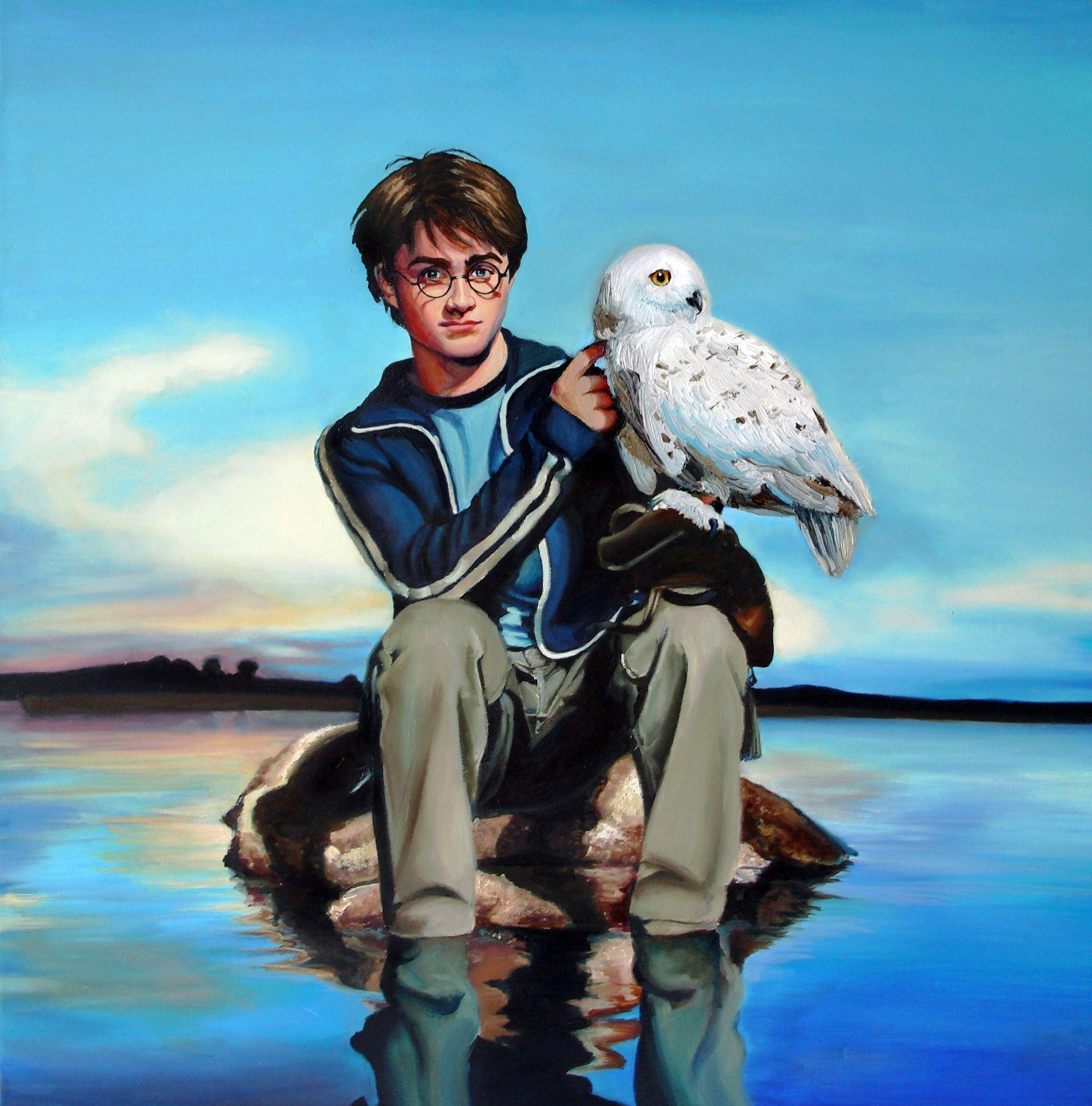 Harry potter - Harry With Hedwig Harry Potter Fan Art