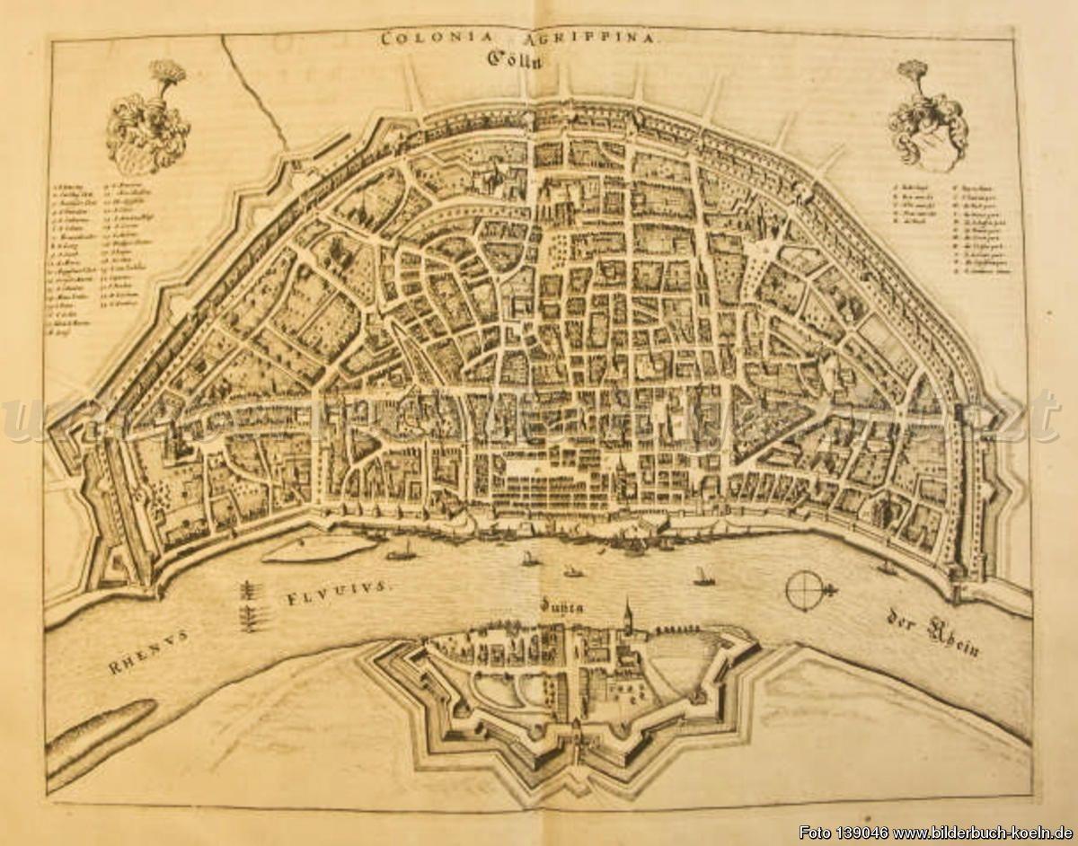 Bilderbuch Koln Karte Vogelschau Von Colonia Stadt Koln Geschichte Koln Karte