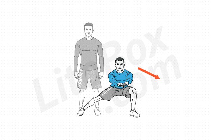 Fentes sur le côté (fentes latérales) : exercice expliqué