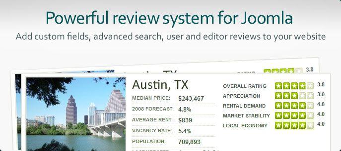 JReviews es un potente directorio y revisión componente Joomla para la construcción de los medios de comunicación revisiones de ricos sitios, directorios de empresas, directorios de servicios, catálogos de productos, clasificados y blogs. Si usted está interesado en ganar dinero con programas de afiliados, JReviews también es perfecto para el trabajo. Se ejecuta en la parte superior de la comunidad de Joomla! sistema de gestión de contenidos .