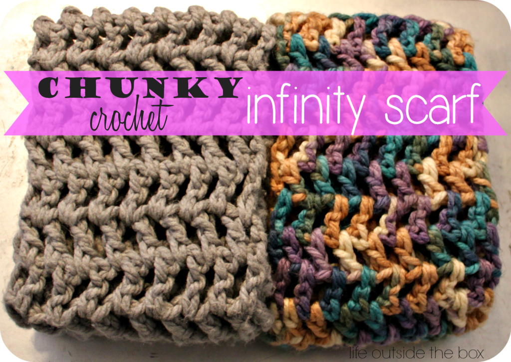 Chunky Crochet Infinity Scarf Pattern Super Easy Pattern Even For