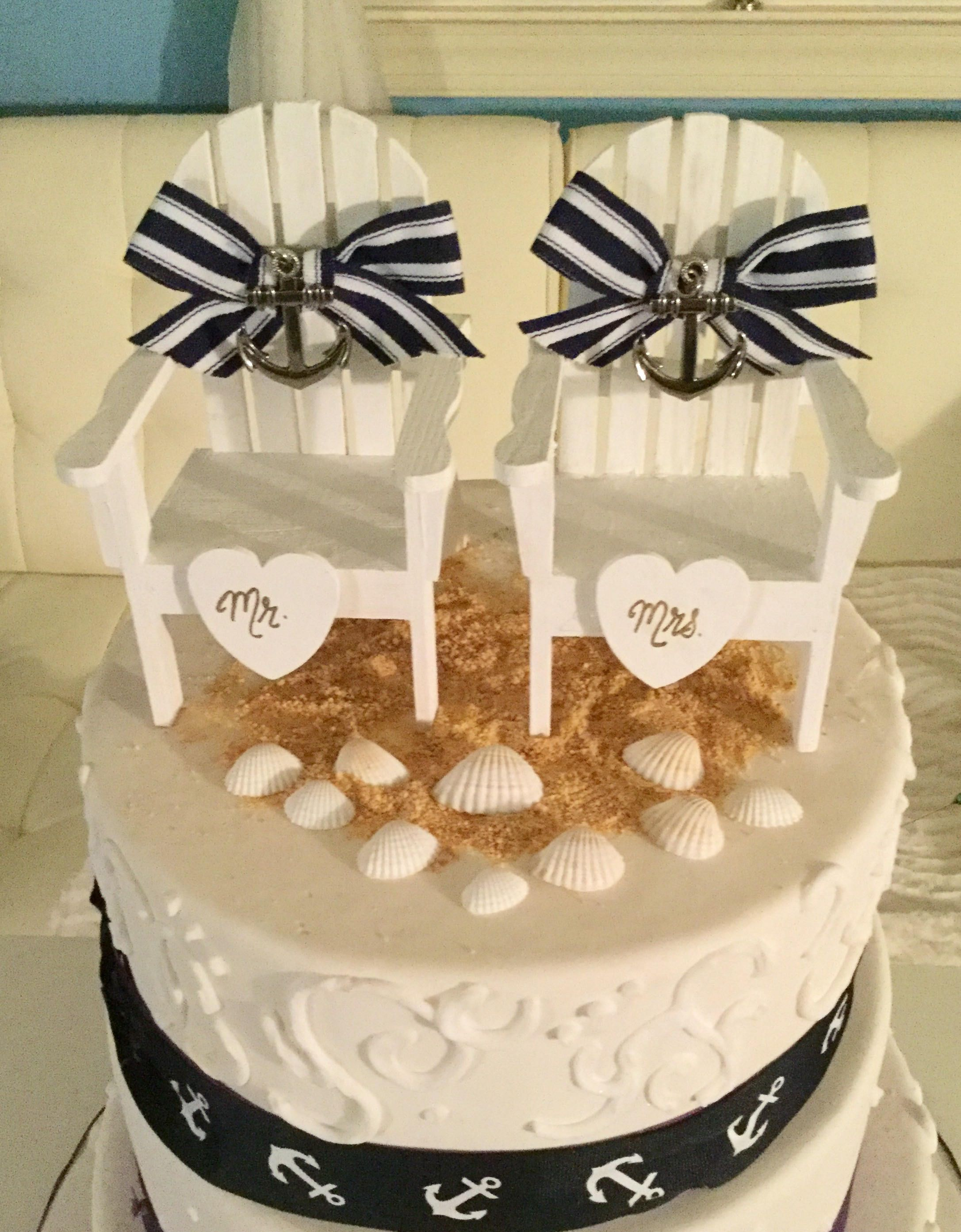 Nautical Cake Toppers, Beach Wedding Cake Toppers ...