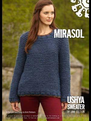 Ushya Sweater From By Mirasol At Knittingfever Com Free Pattern