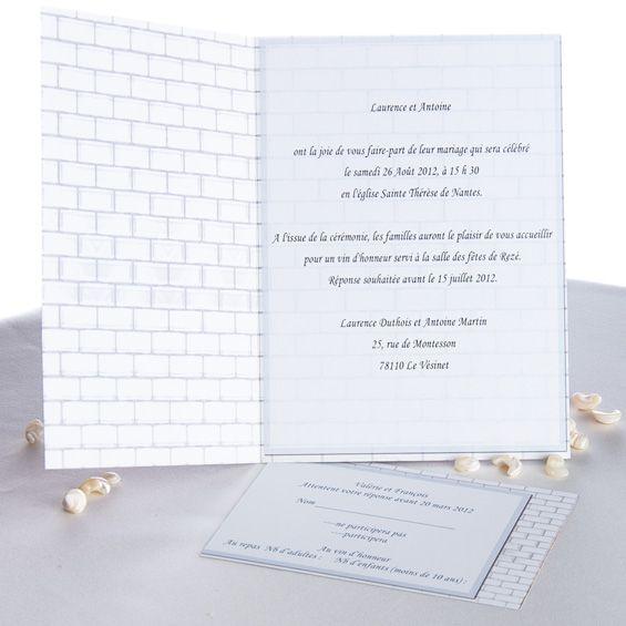 Fabuleux faire part mariage discount / faire part mariage pas cher www  BR58