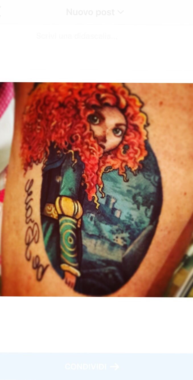 TheBrave tattoo - Merida - Ribelle