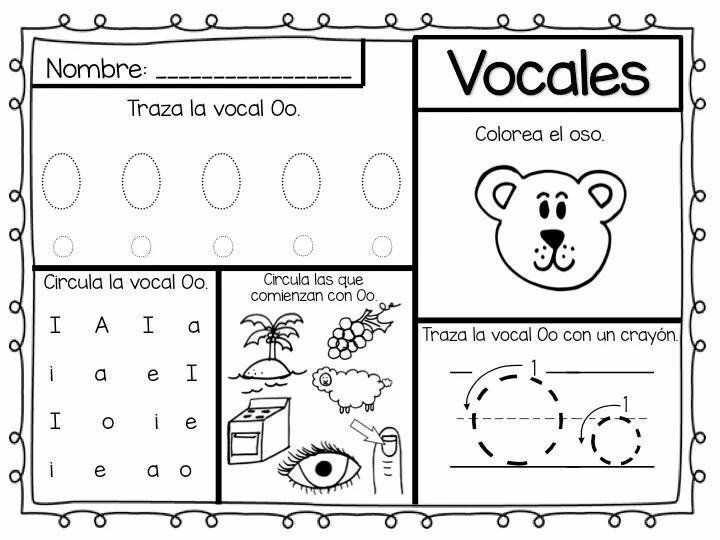 Vocal Oo Con Imagenes Actividades De Letras Lectura Y