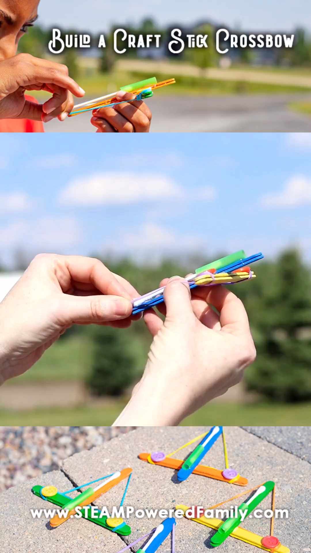 How To Build a Craft Stick Crossbow Launcher