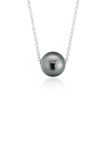 d4dde3723a0f5 Tahitian Cultured Pearl Floating Pendant in 14k White Gold (8-9mm ...