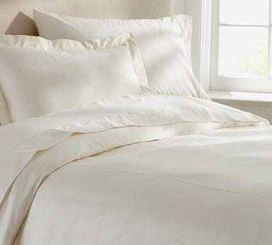 Really lovely. PB Organic 350-Thread-Count Duvet Cover & Sham - Natural #potterybarn