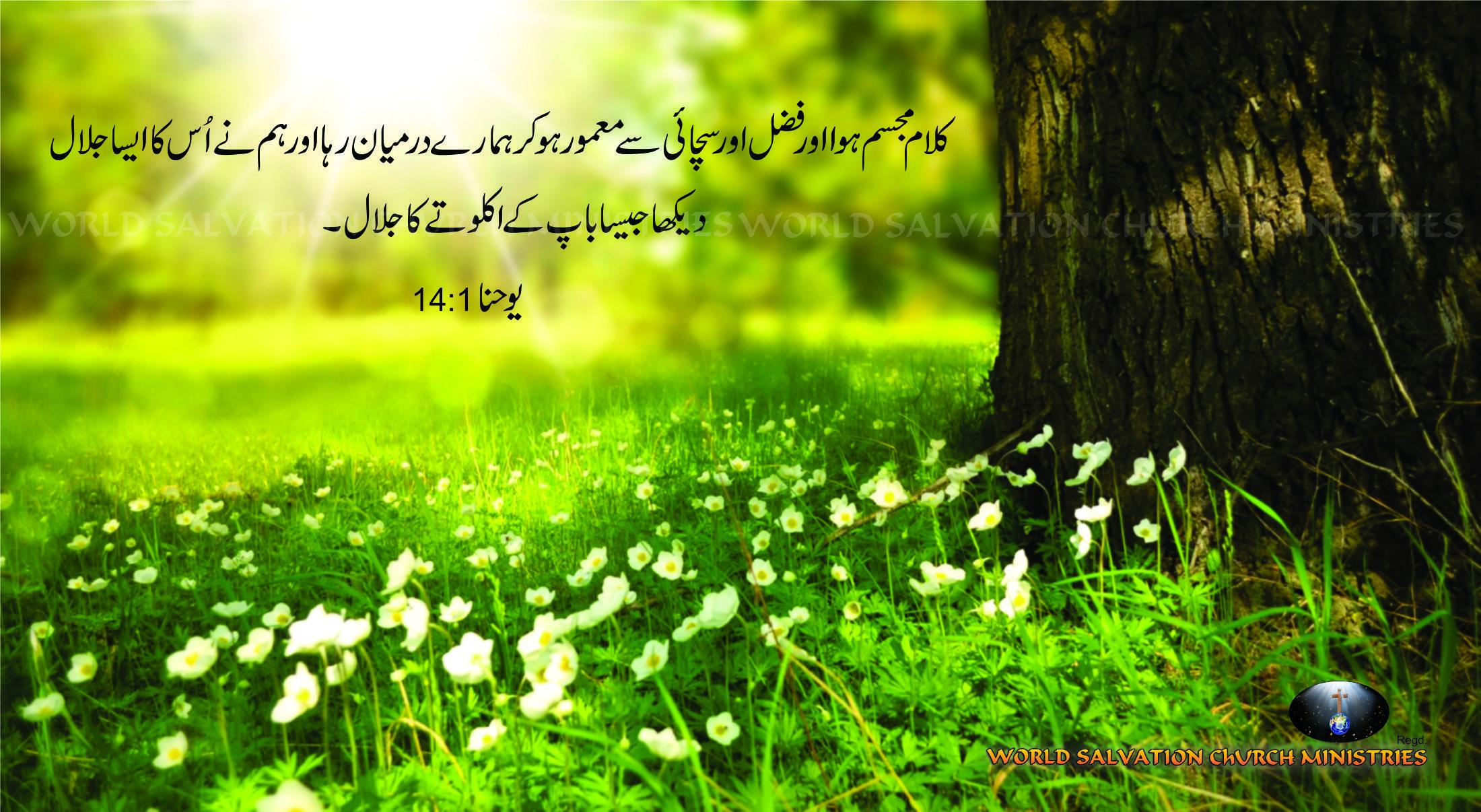 Yohana 1:14 Urdu Bible Verses | Urdu Bible Verses | Bible verses