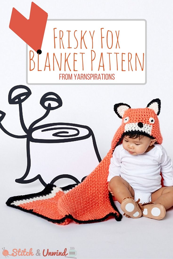 Free Pattern Friday: Feisty Fox Blanket from Yarnspirations! | Baby ...