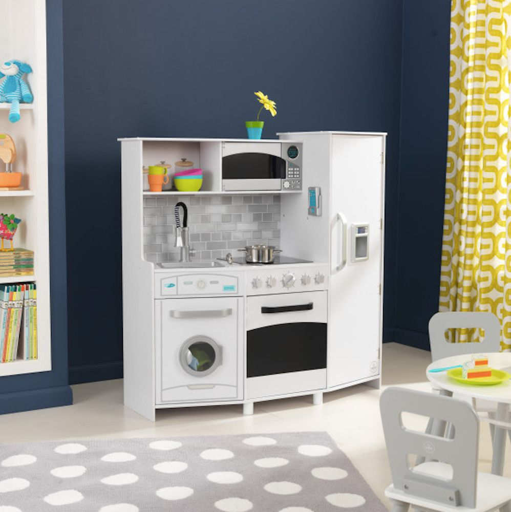 Kidkraft Play Kitchen Large White Wooden Play Kitchen For Kids Playroom