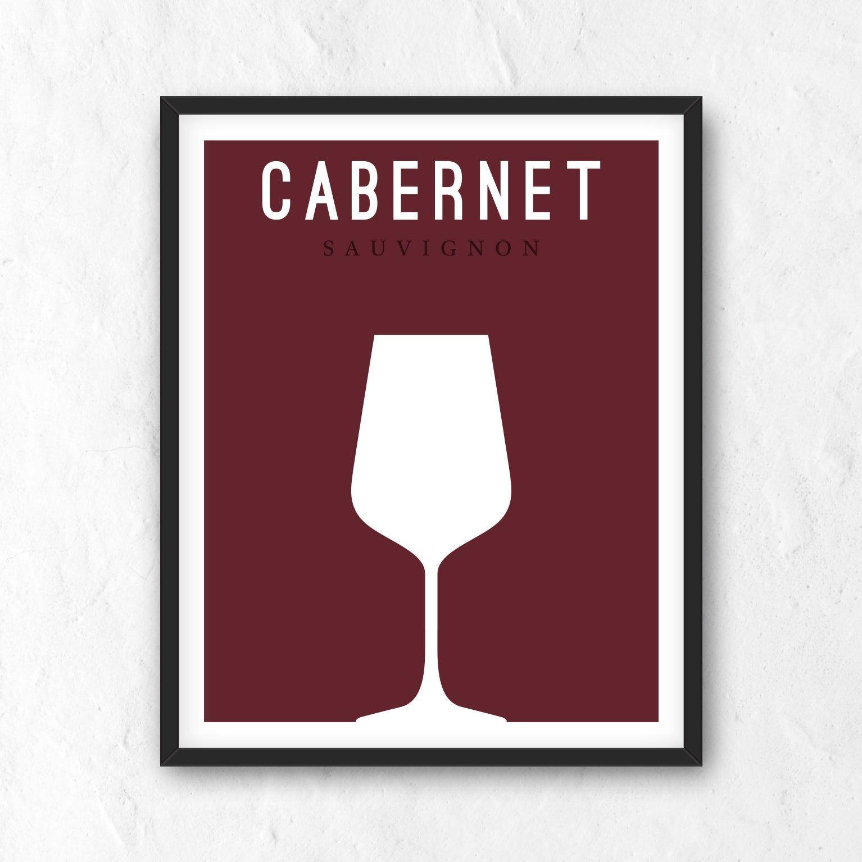 Wine Digital Print Wine Printable Red Wine Poster Cabernet Print Cabernet Sauvignon Printable Minimalist Print Digital Art Jpg Png In 2020 Digital Prints Wine Printables Printable Art
