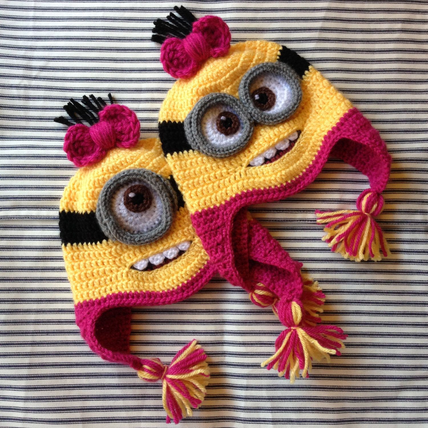 Custom Crochet Despicable Me Minion Hat with Earflaps by NKCreates ...
