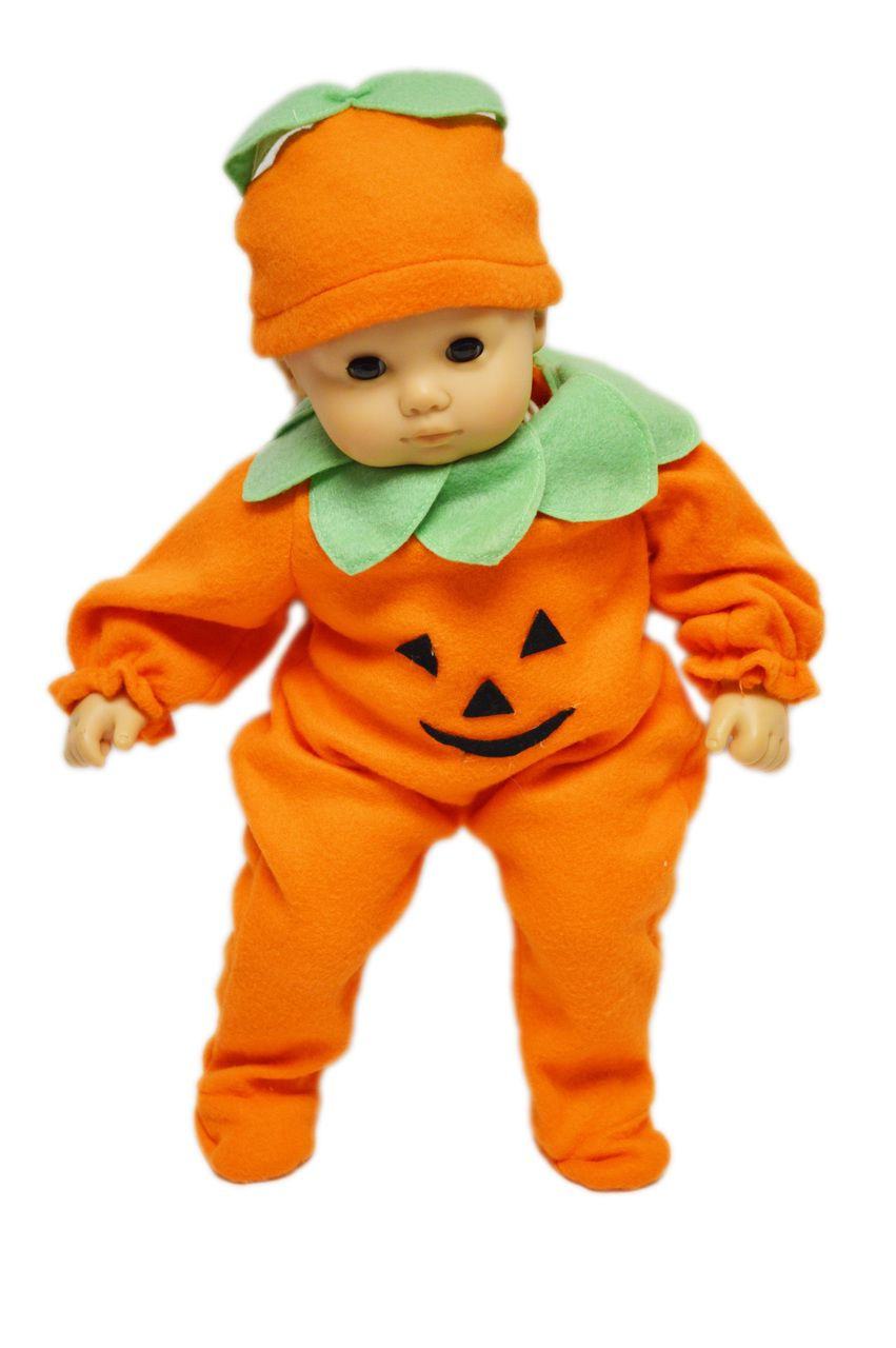Pumpkin Costume for American Girl Doll Bitty Baby