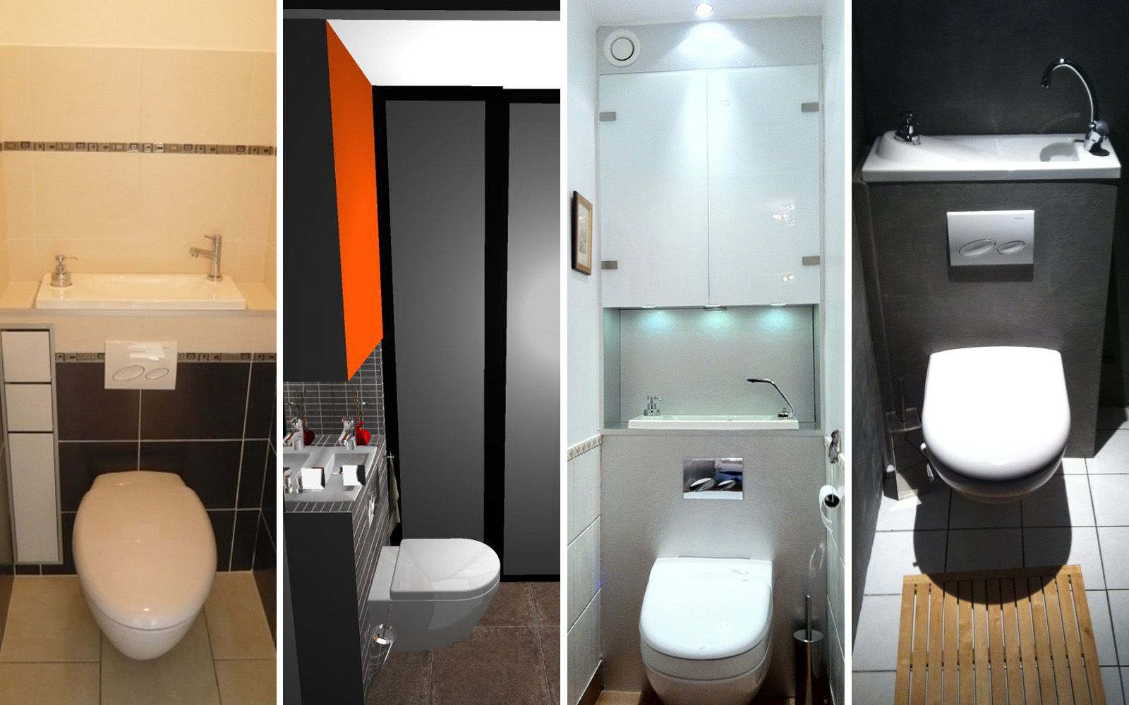 Laves mains sur wc suspendus wc pinterest projets for Photos de toilettes design