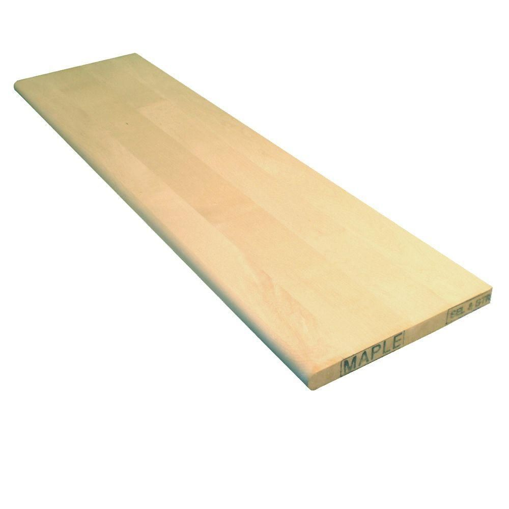 Best Stairtek 1 In X 11 5 In X 48 In Unfinished Maple Tread Wood Stair Treads Stair Treads 640 x 480