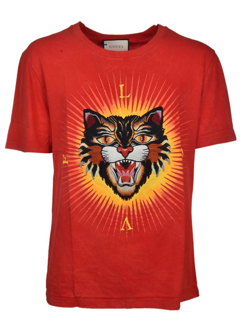 GUCCI Gucci Angry Cat Appliqué T-shirt.  gucci  cloth    3df3fe690850