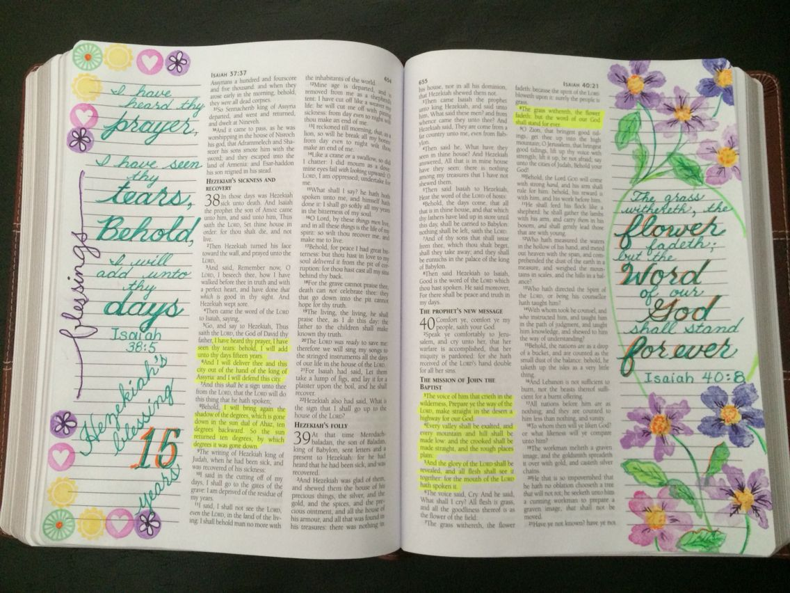 Isaiah 38 5 Isaiah 40 8 Scripture Journaling Bible Journal