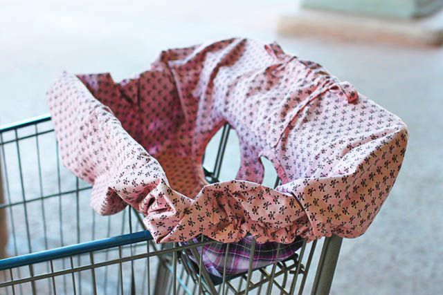Quality Sewing Tutorials: Universal Shopping Cart Seat Cover Tutorial By  Lil Blue Boo