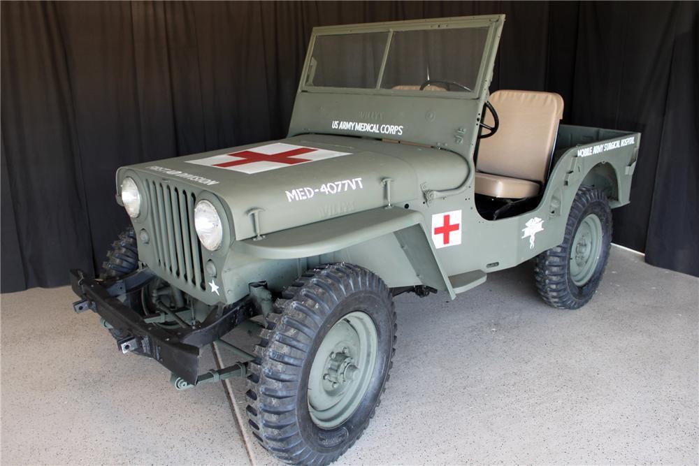 1946 Willys Jeep At Barrett Jackson Auction Scottsdale Arizona