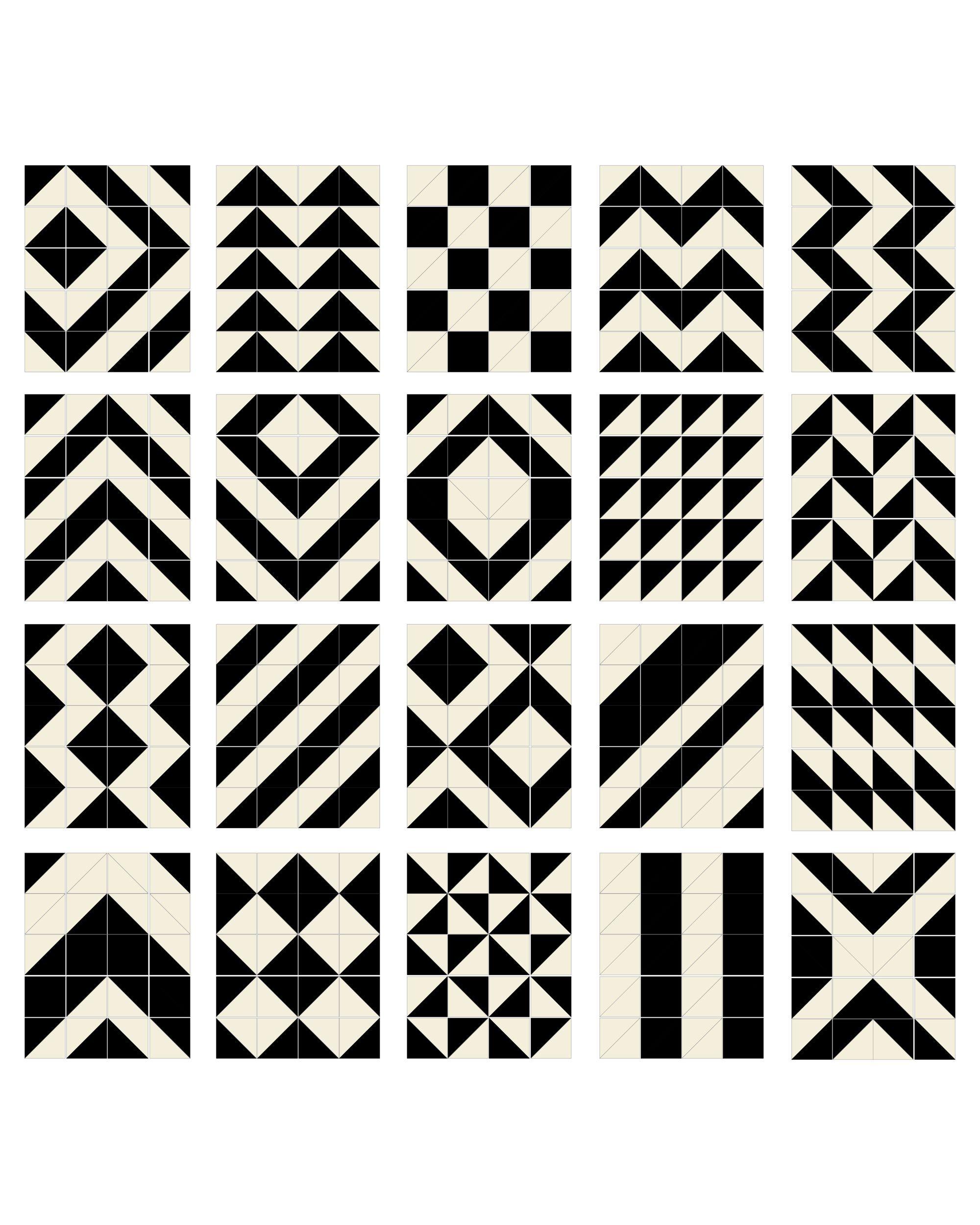 Skip Hop Playspot Geo Kid Foam Tiles Black Cream 40
