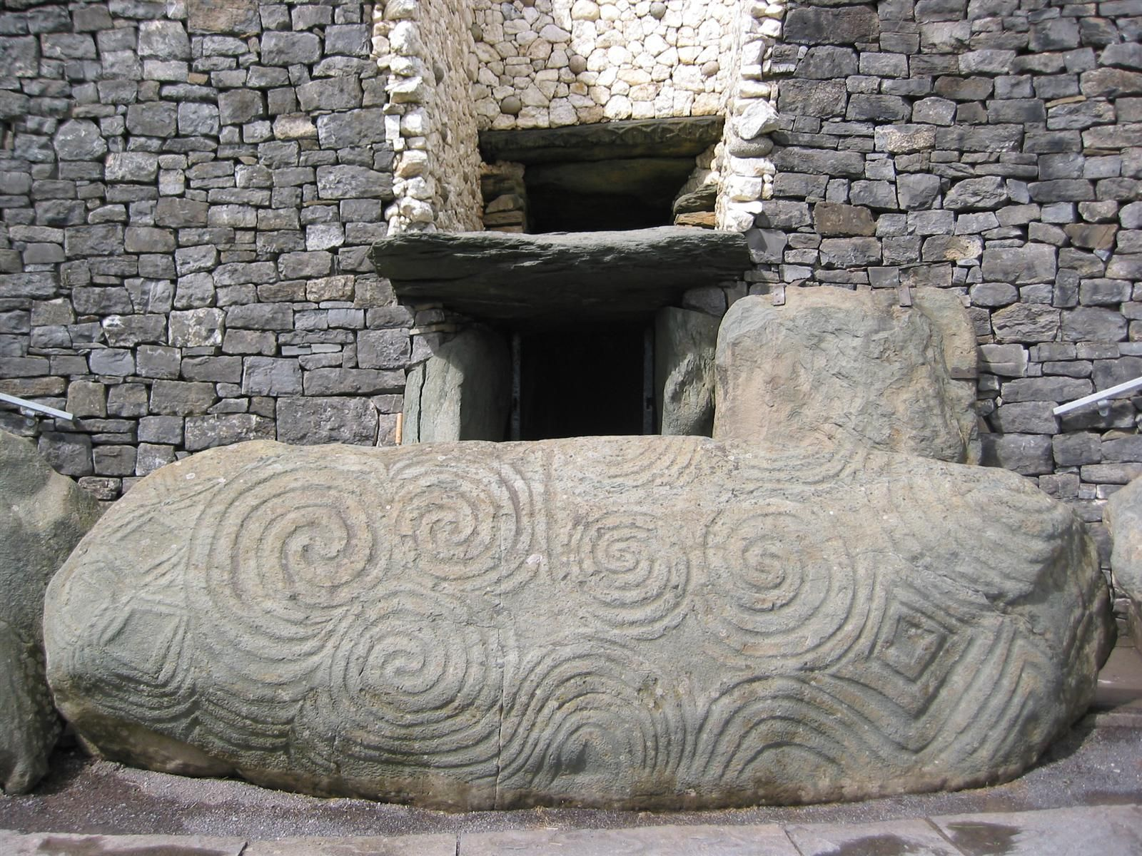 The Entrance To The Neolithic Tomb Of Newgrange In Ireland