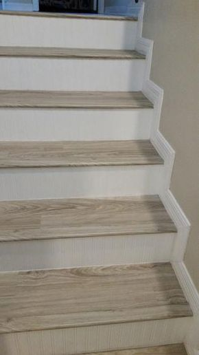 Pin By Bethany Hughes On Staircase In 2020 Stair Renovation Vinyl Stair Nosing Diy Stairs