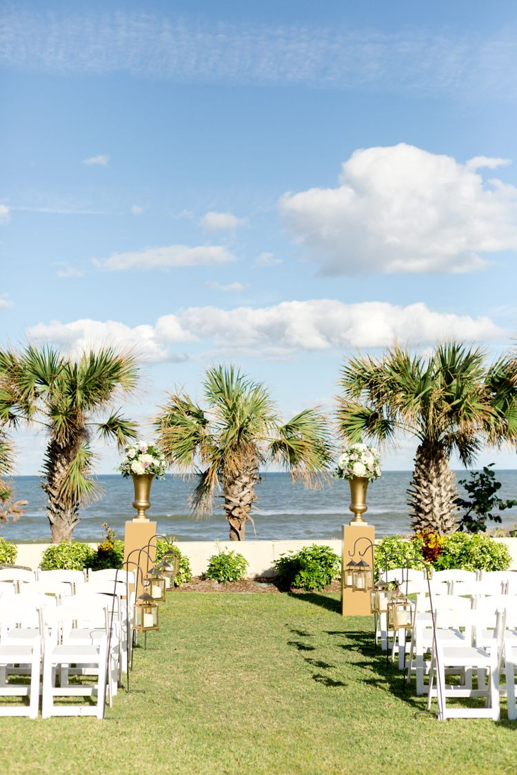 Clic Oceanfront Wedding Ceremony At Hammock Beach Resort In Palm Coast Florida Venues And Locations Kristen Weaver Photography